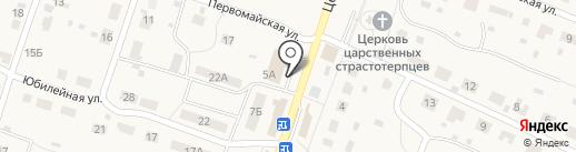 Киоск по продаже фруктов и овощей на карте Дубков
