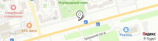 Лидергрупп на карте Саратова