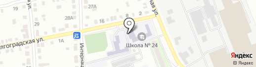 Средняя общеобразовательная школа №24 на карте Энгельса