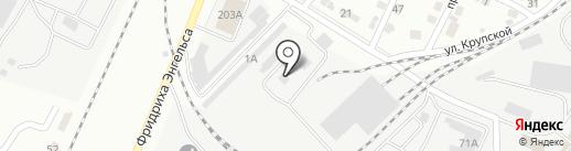 Поволжск-Чермет на карте Энгельса