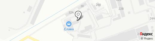 Станция технического обслуживания на карте Энгельса