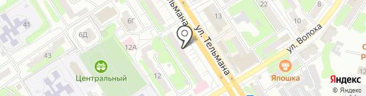 Киндинга на карте Энгельса