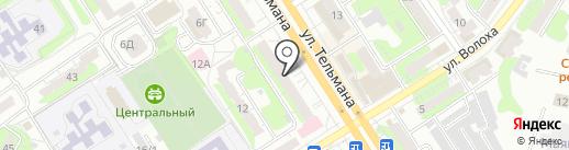 Магазин сантехники на карте Энгельса