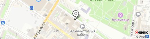 Тенториум на карте Энгельса
