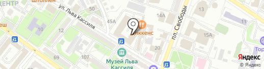Мягкофф на карте Энгельса