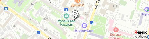 Нотариусы Калинина Т.Ю., Калугина Т.А., Коноваленко Е.В. на карте Энгельса