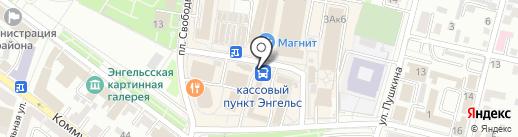 Окна market на карте Энгельса