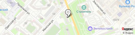 Люстеро на карте Энгельса