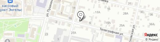 Мехуборка-Саратов на карте Энгельса