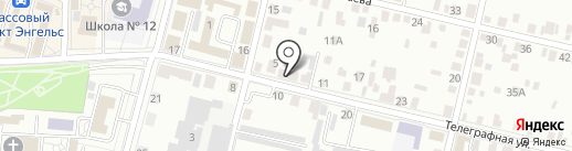Березка на карте Энгельса