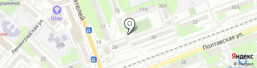 Киоск по продаже хлебобулочных изделий на карте Энгельса