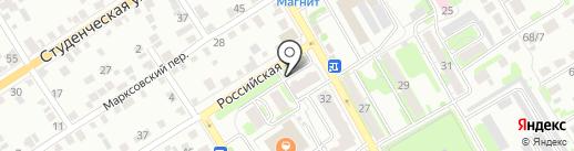 Магазин отделочных материалов на карте Энгельса