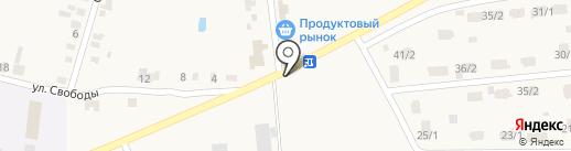 Магазин молочной продукции на карте Красного Яра