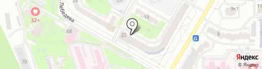 Магазин игрушек и канцелярских товаров на карте Чебоксар