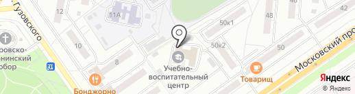Антанта на карте Чебоксар