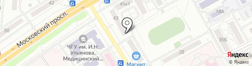 Крокус на карте Чебоксар