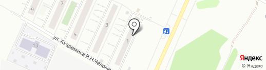 Садовый район на карте Чебоксар