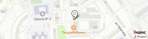 Горилка на карте Чебоксар