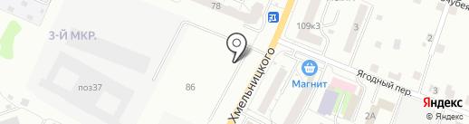 Омега на карте Чебоксар