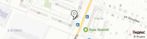 Новосел на карте Чебоксар