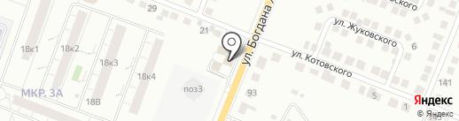 Сова на карте Чебоксар