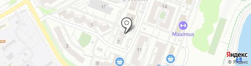 Бокус на карте Чебоксар