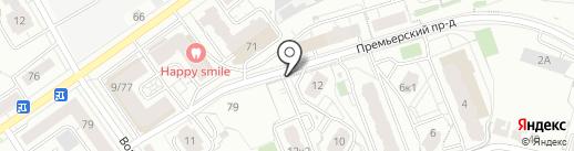 Премьер на карте Чебоксар