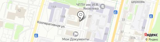 Помощник на карте Чебоксар