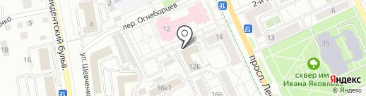 Служба расклейки объявлений на карте Чебоксар