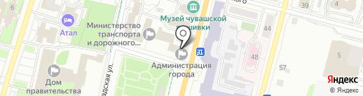 Чебоксарское городское Собрание депутатов на карте Чебоксар