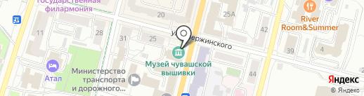 Музей Чувашской Вышивки на карте Чебоксар