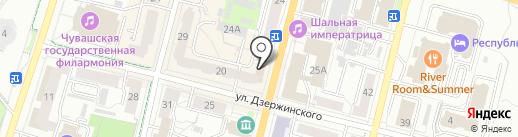 Служба доставки радости и удовольствия на карте Чебоксар