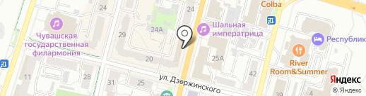 Банк Югра, ПАО на карте Чебоксар