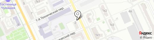 Бюро Научных Экспертиз, АНО на карте Чебоксар