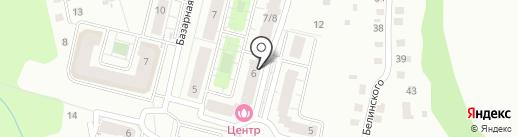 Благовещенский на карте Чебоксар