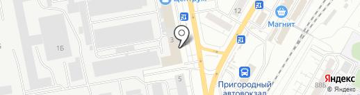 Туфелька на карте Чебоксар