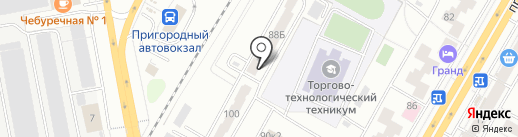 Градопроект на карте Чебоксар