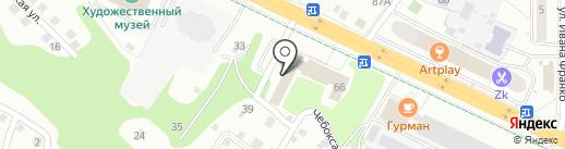 Квартет на карте Чебоксар