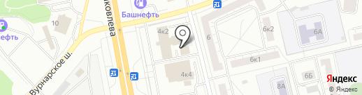 Водолей на карте Чебоксар