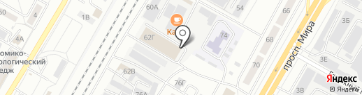 АЛОМСТРОЙ на карте Чебоксар