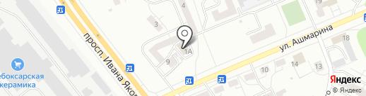 Кристина на карте Чебоксар