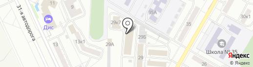 Белый ветер, ЗАО на карте Чебоксар