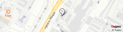 Служба эвакуации и грузоперевозок на карте Чебоксар
