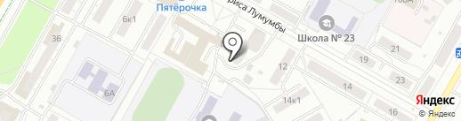 Машина времени на карте Чебоксар