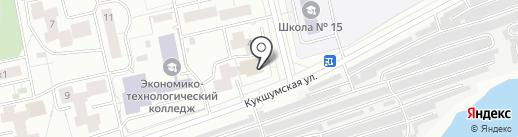 Поляна на карте Чебоксар