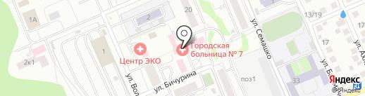 Городская больница №7 на карте Чебоксар