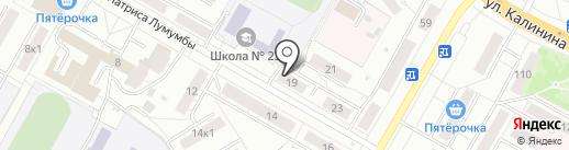 Юмах на карте Чебоксар