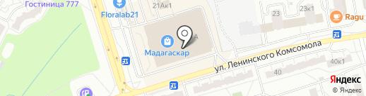 Феникс на карте Чебоксар