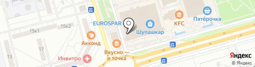 Изюм на карте Чебоксар