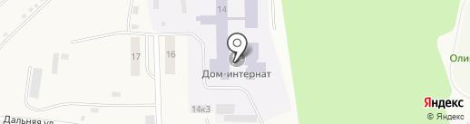 Кугесьский детский дом-интернат для умственно отсталых детей, БУ на карте Кугесей